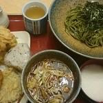 41745446 - 鶏つけ茶そば大by arumona