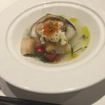 41746455 - お魚料理 ◎◎ ヒラスズキと蛤といくら
