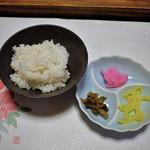 月のしずく - 【御飯】豊岡産コシヒカリと香物