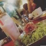 Rizottokafetoukyoukichi - 生ハムとほうれん草のグリーンリゾットとブルーベリーとヨーグルトのジュース