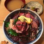 割烹 和知 - 鉄火丼1100円 2015.9撮影
