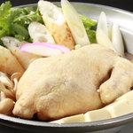 ふらいぱん - 『コラーゲンたっぷり特製鶏鍋!!」自慢のスープで仕上げました。