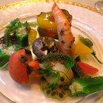 花りん - 前菜:海の幸と夏野菜