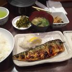 41770352 - 日替わり定食(塩サバ)700円、卵焼きハーフ240円