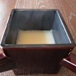 41772328 - 蕎麦湯ですw