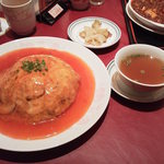 Chuugokuryouritouen - 天津飯1188円スープ・ザーサイ付き