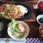 セントラル - 焼きそば定食(税込550円)