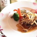 レストラン 仁 - 茸の和風ハンバーグ