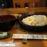 香文木 - 手打ち椎茸汁うどん+おから稲荷