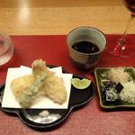 こうもと - キスと夏野菜の天ぷら