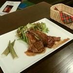 cafe&pub Kensington - 子羊のグリル 赤ワインソース