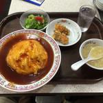 41781629 - 天津炒飯セット                       あんは甘酢あん、多めです