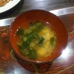 お好み焼 吉 - お味噌汁
