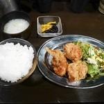 わらし - ザンギ定食¥800
