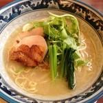 鶏骨スープ 青桐 - にごり塩ラーメン(730円)