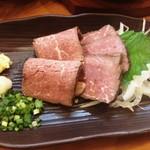 山喜多 - 熟成牛たたき480円