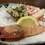 とりで寿司 - 甲殻類皿