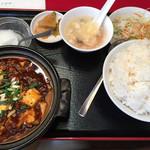 四川厨房 - 本格麻婆豆腐定食(750円)