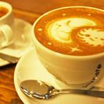 emu cafe - 可愛いラテアートも