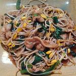 津駅前食堂 岸 - 豚肉とニラのにんにくしょうゆ炒め