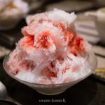 炭火焼肉 An - いちごのかき氷(シェフのきまぐれ)