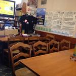 河津屋食堂 - 8人掛けテーブルが4つ