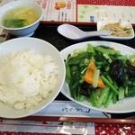 Shuuchuuengyouza - (2015/9  訪問)炒青菜セット。780円。