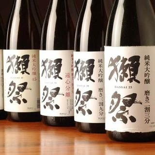 """山口が誇る銘酒""""獺祭""""山口の味覚と共に味わえるお店です"""
