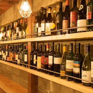 ワイン50種以上を揃えてます!
