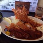 とんかつ ひろ喜 - 特選ロースとんかつ&海老フライ(大)d(^.、^)~ ¥1400円