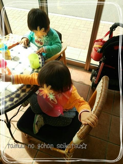 ドンク 札幌福住店 - テラス席でチャイルドチェアを借りてランチ♪