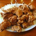 三泰号 - とり肉の揚物800円 ※2010年6月