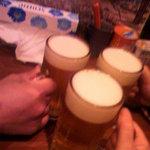 粋酔 - 生ビールでカンパ~イ♪ ヘヘへ~まだ呑んでます・・・。