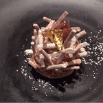 レストラン コートドール - モンブラン       柿とエスプレッソのアイスクリーム