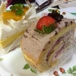 Souvenir - 今日もまたまたおやつにケーキ★       マンゴーココナッツケーキで夏を思い出し、いちごもちロールで冬を偲ぶ笑