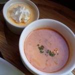バニトイベーグル - ランチのスープ&ミニデザート