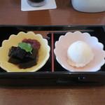 浪漫館横浜 - ヒレカツサンドセットのデザート