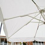 Lili marleen - テラス席にはおっきな傘がありました。