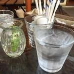 パティスリー ショコラトリー オーディネール - ☆お水グラスはこんな感じです(*^^)v☆
