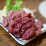 焼肉 はせ川 - 2015.9 馬さし(650円)