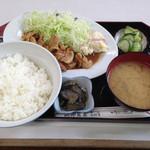 細田食堂 - 料理写真:焼肉定食670円→650円