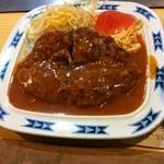 ステーキ宮川 - 料理写真:ハンバーグ定食 750円 サラダとスパゲティ