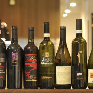 種類豊富な南イタリア産ボトルワイン