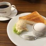 珈琲元年 - ブレンドコーヒー400円とAのトーストセット