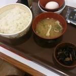 すき家 - たまごかけごはん朝食220円
