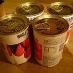 ワインの酒場。ディプント - 卓上に置かれてる缶詰?
