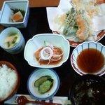 磯萬 - 料理写真:天ぷら定食1280円