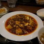蔓山 - ランチセット 1,000円の麻婆豆腐
