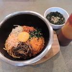 百帝園 - ランチ定食のスープ