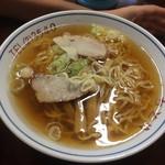 ちどり食堂 - チャーシューメン大盛(食べかけ)